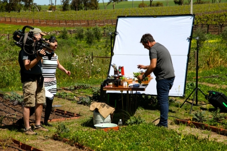filming in the fermentAsian garden